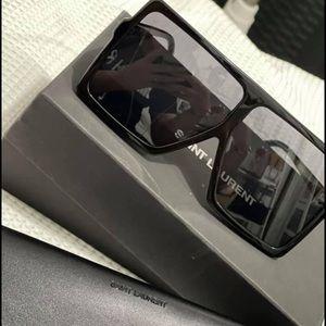 Saint Laurent Betty oversized shield sunglasses